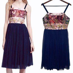 Moulinette Soeurs NWT Tulle Floral Dress Size 8P